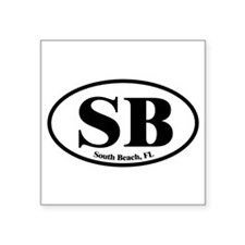South Beach SB Euro Oval Oval Sticker