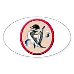 Loon Totem Oval Sticker