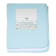 APL keyboard cheat sheet baby blanket
