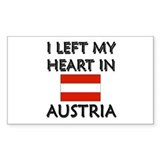 I Left My Heart In Austria Rectangle Decal