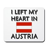 I Left My Heart In Austria Mousepad