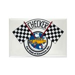 Checker Club Rectangle Magnet