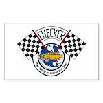 Checker Club Rectangle Sticker