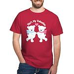 She's My Valentine Polar Bear Dark T-Shirt