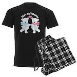 She's My Valentine Polar Bear Men's Dark Pajamas
