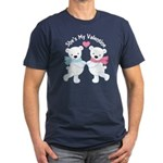 She's My Valentine Polar Bear Men's Fitted T-Shirt