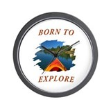 Born to Explore Wall Clock