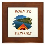 Born to Explore Framed Tile