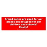 Planes vs Schools Bumper Sticker