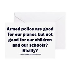 Planes vs Schools Greeting Card