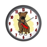Innocent Patterdale Terrier Clock