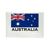 Australia Flag Stuff Rectangle Magnet