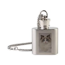Ragdoll Kitten Flask Necklace