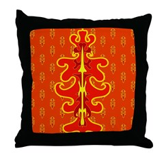 Royal Family Home Orange Throw Pillow