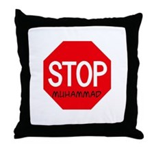 Stop Muhammad Throw Pillow