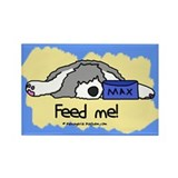 Feed Me Sheepdog Rectangle Magnet