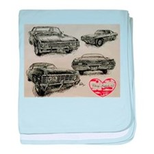 '67 Chevy Impala baby blanket