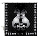 Black and Gray Shower Curtain