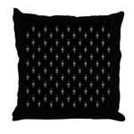 Black and Gray Throw Pillow