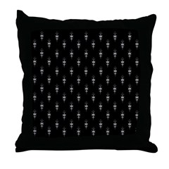 Royal Family Collection Black Throw Pillow