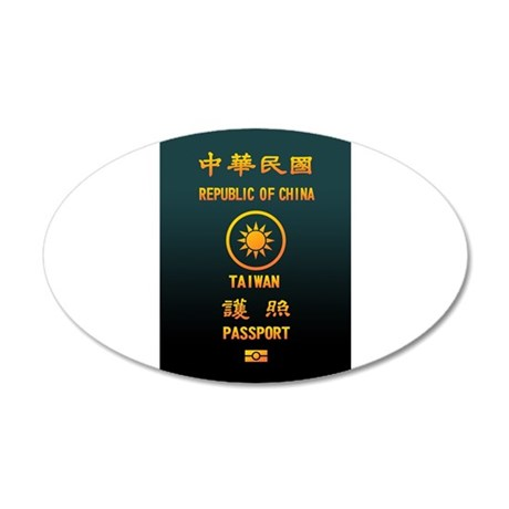 PASSPORT(TAIWAN) 20x12 Oval Wall Decal