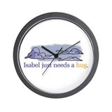 Funny Isabel Wall Clock