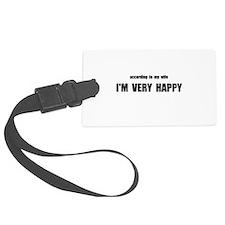 Wife Happy Luggage Tag