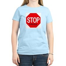 Stop Enrique Women's Pink T-Shirt
