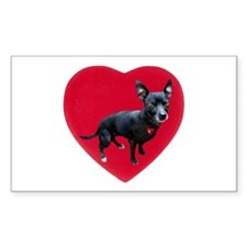 Chihuahua Heart Decal