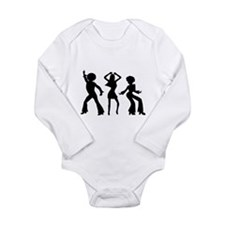 Disco Silhouettes Long Sleeve Infant Bodysuit