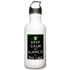Blame the lag Water Bottle