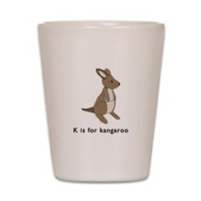 k is for kangaroo Shot Glass