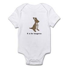 k is for kangaroo Infant Bodysuit