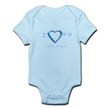 I love my twin boys Infant Bodysuit