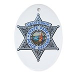 California Park Ranger Ornament (Oval)