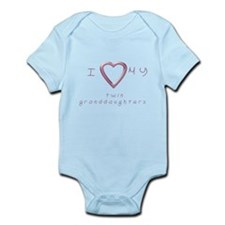 I love my twin granddaughters Infant Bodysuit