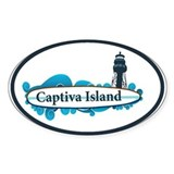 Captiva Island - Surf Design. Decal