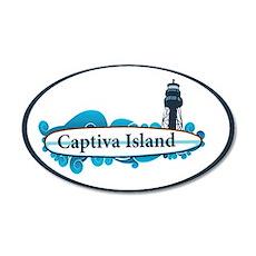 Captiva Island - Surf Design. 20x12 Oval Wall Deca