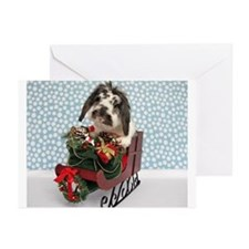 Dudley in Winter Sleigh-Greeting Cards (Pk of 10)
