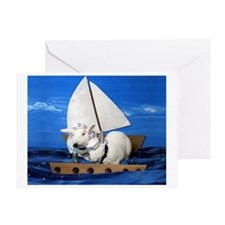 Kirby and Dexter Sailing Greeting Card