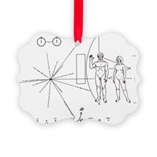 Pictorial plaque on Pioneer 10 and 11 - Ornament