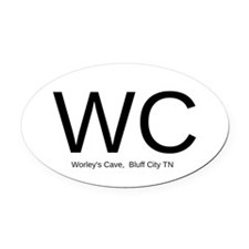 Worley's Cave, Bluff City TN - Oval Car Magnet