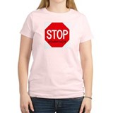 Stop Johnathon Women's Pink T-Shirt