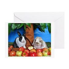 Dinah and Macintosh Picking Apples Greeting Card