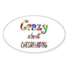 Crazy About Cheerleading Decal