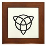 Reversed Triquetra Framed Tile