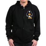 Laughing Penguin 1 Zip Hoodie (dark)