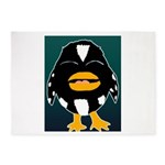 Laughing Penguin 5'x7'Area Rug