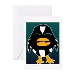 Laughing Penguin Greeting Card