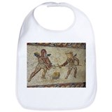 Roman mosaic of gladiators - Bib